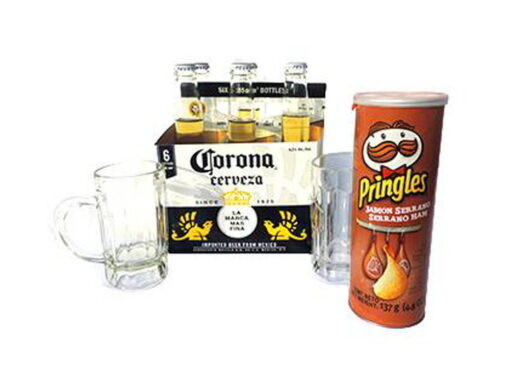 pack corona con jarras cervezera
